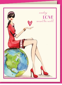 love around the world - valentine (set of 10)