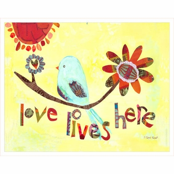 love lives here wall art