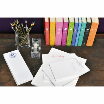 lower case calligraphy note pad