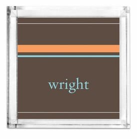 Lucite Petite Brown Stripes Tray