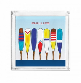 Lucite Petite Colorful Oars Tray