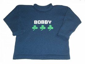 luck of the irish personalized sweater