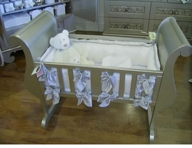 Lulla Smith cradle linens