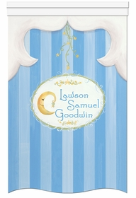 lullaby & goodnight faded denim personalized wall hanging