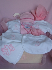 luxuries baby layette gift basket
