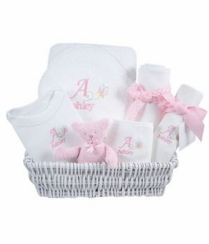 luxury baby gift basket - butterfly