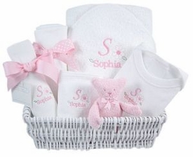 luxury baby gift basket - daisies