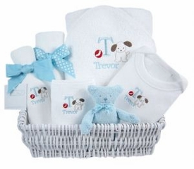 luxury layette gift basket