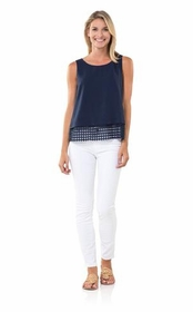 made for mod navy top