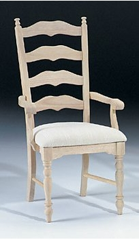 maine ladderback arm chair