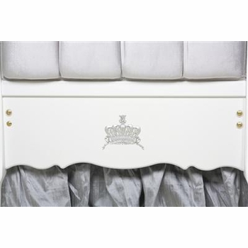 majestic silver upholstered bordeaux crib