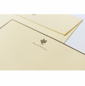 maple leaf note cards
