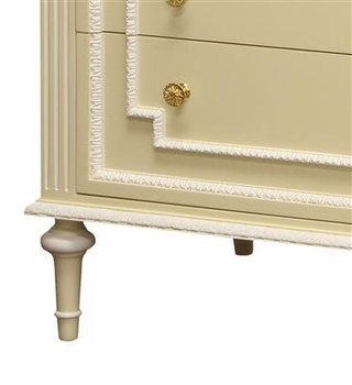 marcheline chest maize finish/white trim out