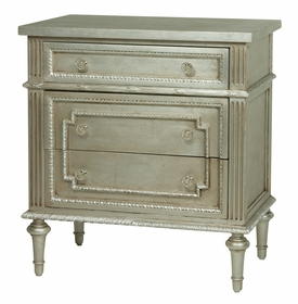 Marcheline Night Table Metallic Silver