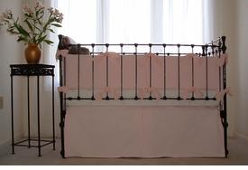 matelasse crib bedding - pink by sweet william