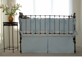 matelasse crib bedding set - blue by sweet william