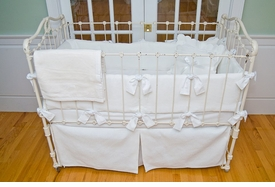 matelasse crib bedding - white by sweet william
