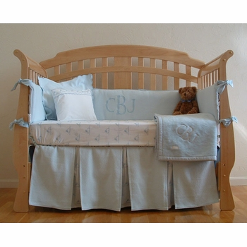 matelasse monogrammed crib bedding - by sweet william
