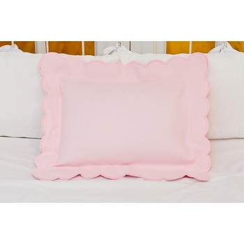 matelasse scalloped pillow
