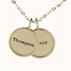 medium 14k gold rimmed name necklace duo