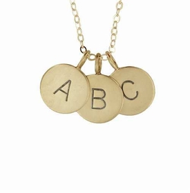 medium 14k initial charm set necklace