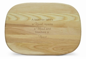 medium carving board - hand mind heart
