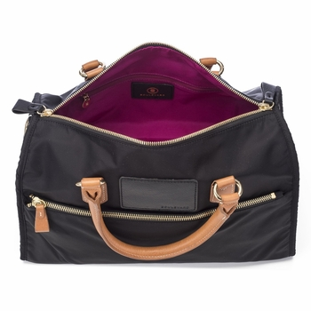 melissa nylon and leather satchel
