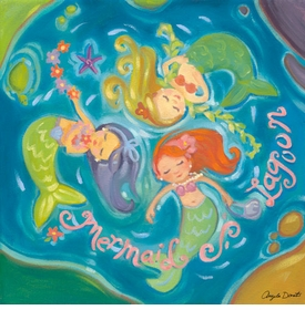 mermaid lagoon wall art