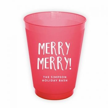 Merry Merry Round Cups