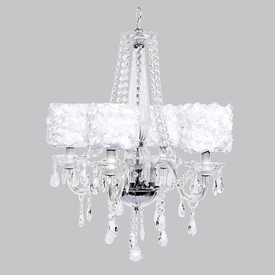 middleton chandelier - white rose garden shades