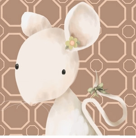 mimi mouse wall art canvas reproduction