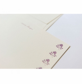 mini roses note cards