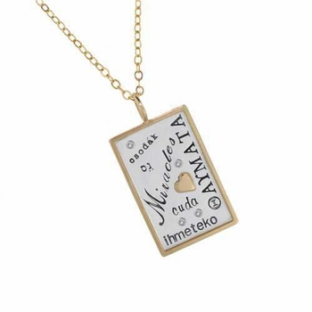 miracles charm nacklace silver and gold