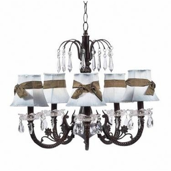 mocha 5 arm waterfall chandelier