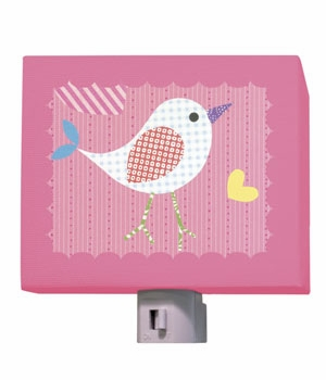 mod chick on hot pink nightlight
