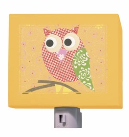 mod owl on orange nightlight