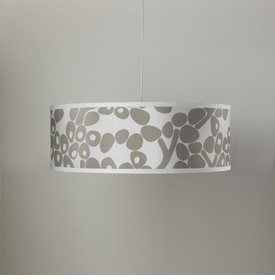 modern berries shallow cylinder pendant - taupe