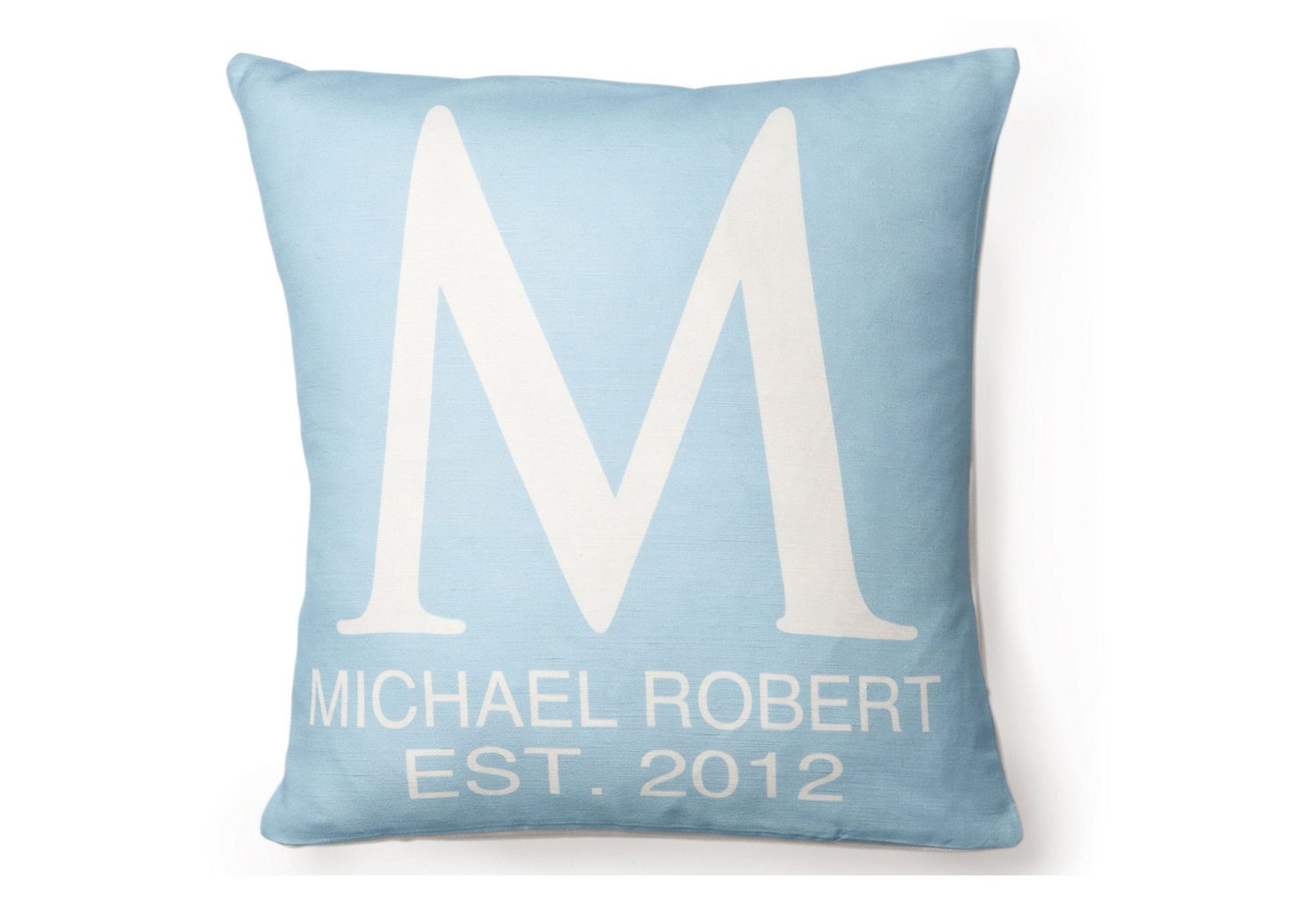 modern monogrammed initial pillows featured at babybox.com