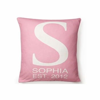 modern monogrammed initial pillows