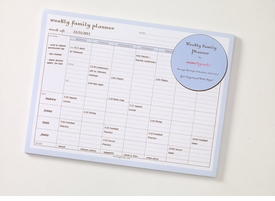 momagenda weekly family planner desk pad
