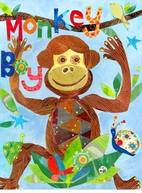 monkey boy wall art