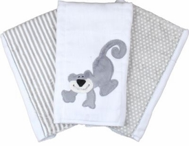 monkey burp cloth (Set of three)