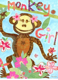 monkey girl wall art