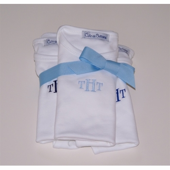 monogrammed baby bodysuits set of 3