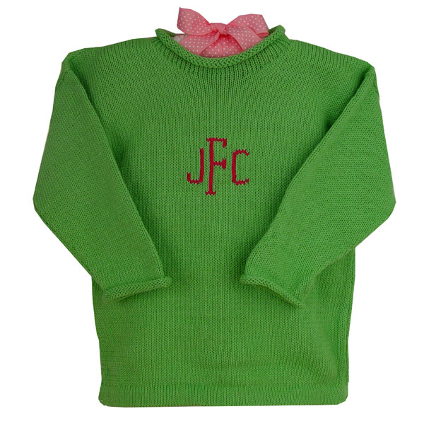 Monogrammed Baby Sweater Featured At Babybox Com
