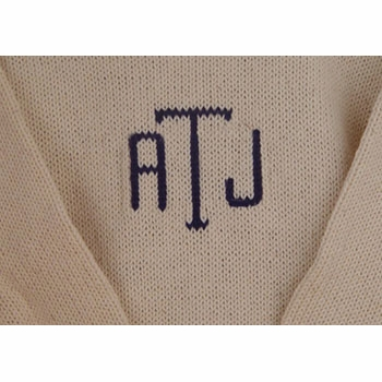 monogrammed baby sweater