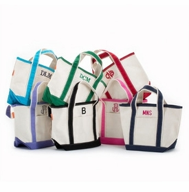 Monogrammed Canvas Boat Totes