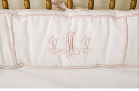 monogrammed crib bedding by art for kids