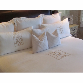 monogrammed duvet cover (1000 thread count)