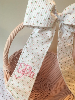 monogrammed easter basket bow